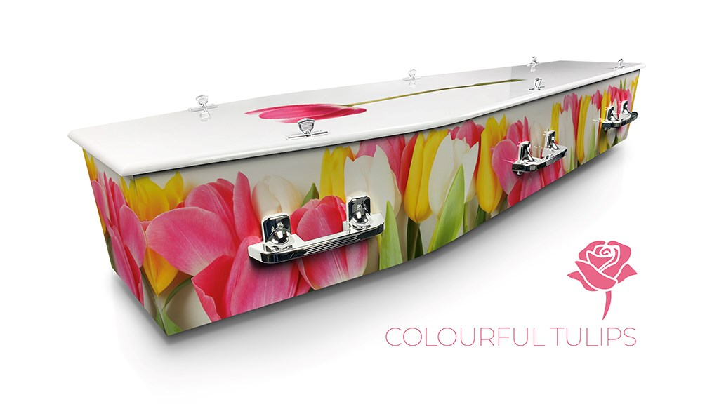 Colourful Tulips - Lifestyle Coffins