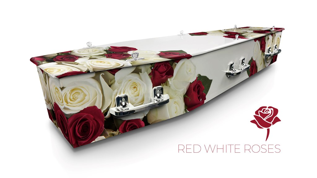 Red White Roses - Lifestyle Coffins