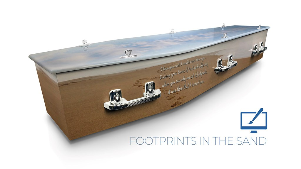 Footprints in the Sand - Lifestyle Coffins