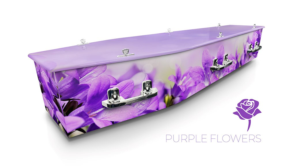 Purple Flowers - Lifestyle Coffins